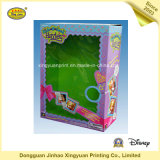 Rectángulo de empaquetado de papel rosado para la muñeca de Barbie (JHXY-PB0038)
