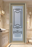 Porta de alumínio do Casement do banheiro & da cozinha do vidro geado da forma
