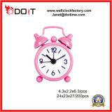 Reloj de alarma de escritorio de Bell del gemelo del metal del regalo promocional de encargo