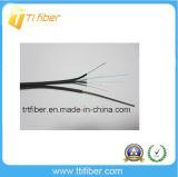 2 cabo ao ar livre liso da fibra do núcleo G657A FTTH com revestimento de LSZH