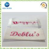 Etiqueta tejida satén famoso de la ropa de la marca de fábrica de la alta calidad 2016 (JP-CL078)
