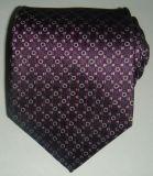 Cravate de vente chaude de jacquard tissée par soie d'hommes