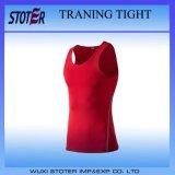 La forme physique serrée de chemise de circuit de T-shirt de formation de gymnastique de peau folâtre des T-shirts