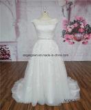 Guangzhou-französische Spitze bördelte A - Zeile Hochzeits-Kleider