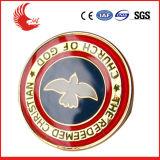 Logotipo de encargo Insignia caliente-Vendedora de la escuela de cobre amarillo