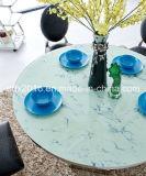 Mesa redonda inoxidável da mobília da HOME do frame de aço da tabela de vidro