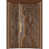 贅沢な実質の銅の青銅色のドアの出入口の機密保護の倍の正面玄関のドア