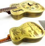 Guitare de Dobro de Resophonic de corps d'en cuivre de configuration d'arbre d'Hawaï