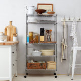Mobile supremo Adjustable Chrome Steel Wire Storage Shelf per Home Use