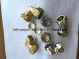 L'OEM ha forgiato l'accoppiamento diritto di compressione d'ottone (AV90085)