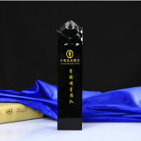 Schwarze Kristalltrophäe K9 für Geschäfts-Geschenk