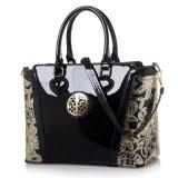 Senhora gravada Bolsa da mulher da patente do desenhador de moda do saco de ombro da flor