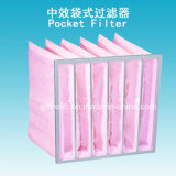 Фильтр воздушного кармана ткани эффективности F7 85% Nonwoven