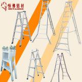 Fünf-Jobstepps zusammenklappbare Aluminiumstrichleiter für landwirtschaftlichen oder Haus-Gebrauch