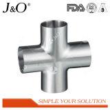 Ajustage de précision de pipe sanitaire de tube de soudure de croix d'acier inoxydable