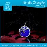 925 het echte Zilveren Bamboe Serie 4 van de Tegenhanger van de Juwelen van Lapis lazuli