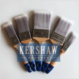 Pinceau à peinture (brosse plate à filaments synthétiques, bois de hêtre)