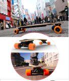 Elektrische Houten Skateboard het met 4 wielen van Smartek met Autoped Patinete s-019-1 van de Stijl van de Manier Seg van de Gyroscoop van de Aandrijving Shortboard van de Afstandsbediening de Draagbare Enige Elektrische