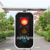 La DEL de clignotement solaire mobile signe les feux de signalisation verts rouges Pôles légers