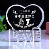 Pagine di cristallo poco costose della foto del cuore per il regalo &Wedding di favore di compleanno
