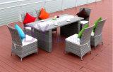 Mobília ao ar livre do jardim do Rattan do PE do lazer do pátio do balcão 5-Piece