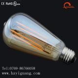 Bulbo de cristal del filamento del oro LED de la dimensión de una variable del St