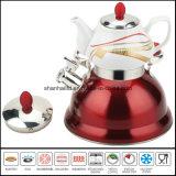 Caldera doble del silbido con el conjunto de té de cerámica del samovar de la tetera