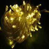 Luz 2016 feericamente da corda do Natal para a decoração ao ar livre
