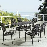 Vector al aire libre de la fundición de aluminio del rectángulo de los muebles del jardín con la silla (YTA916&YTD919)