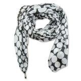 De dames vormen de Afgedrukte Sjaal van de Kunstzijde van de Lente van de Polyester