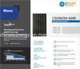 Modulo solare monocristallino di Csun250-60m