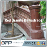 Balustrade en granite rouge naturel / Rampe / balustre pour la décoration de la terrasse et de la maison