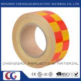 PVC желтый и красная безопасность Chequer предупреждая отражательную ленту (C3500-G)