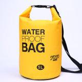 Les sports en plein air promotionnels 5L imperméabilisent le sac sec de sac à dos de baril (YKY7270)