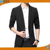 형식 남자 블레이저 코트 우연한 한 벌은 적당한 면 블레이저 코트를 체중을 줄인다