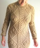 Handmade Hand Knit Mulheres Senhoras Warm Wool Evening Winter Dress