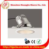 Luz ajustável Recessed diodo emissor de luz clara da ESPIGA do desempenho 20W da qualidade superior do hotel melhor
