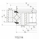 roulement interne de plaque tournante de vitesse de rangée simple de grue à la tour 50mn/42CrMo