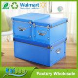 3 gesetzter DIY blauer transparenter pp. Schuh-und Kleidung-Speicher-Organisator