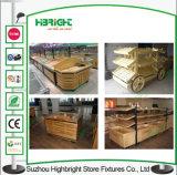 Стеллаж для выставки товаров фрукт и овощ металла супермаркета деревянный