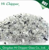 Lanscaping Glass Sand Chips de vidro branco esmagado Vidro decorativo
