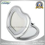 Espelho portátil chapeado cromo do metal do polonês do espaço em branco da promoção
