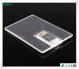 Palillo de la tarjeta de crédito transparente del USB con la insignia colorida (WY-C11)