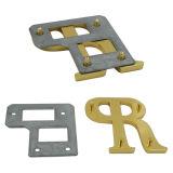 """Contrassegno della borsa della lega del metallo di """"R"""" della lettera dell'oro"""