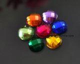 Om Steen van de Hars van het Bergkristal van 20mm de Vlakke Achter Acryl (ronde fB-20mm)