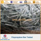 Fibra Twisted de los PP de las fibras concretas