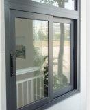 A janela de deslizamento a mais atrasada do alumínio da vitrificação dobro do projeto