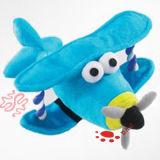 Il jet del giocattolo di linea aerea della peluche vola