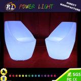 Cadeira colorida iluminada mobília do assento do diodo emissor de luz do RGB do jardim