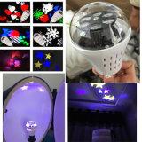 Luz del día de fiesta del RGB LED de la rotación con el modelo de mariposa
